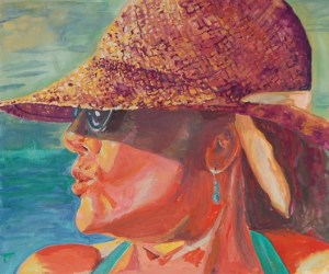 Portrait of Mom in Mexico, gouache on paper, Magali Rutschman