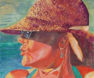 Portrait of Mom in Mexico, gouache on paper, Magali Rutschman