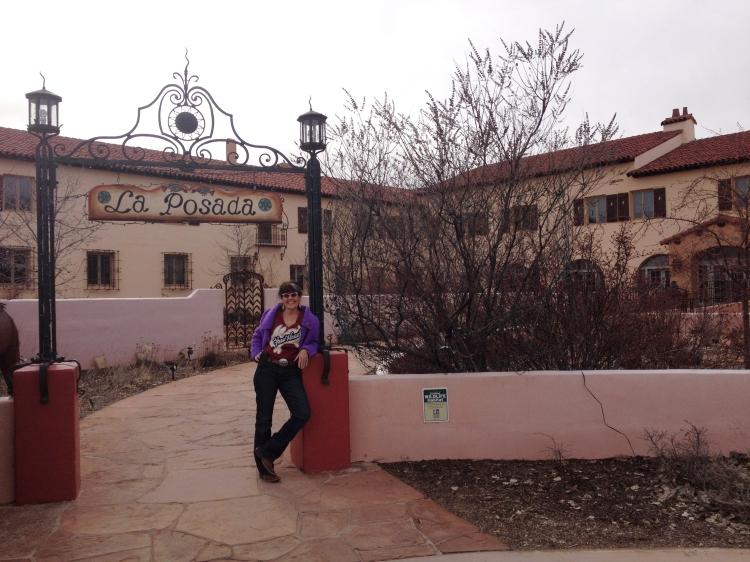 Elise in front of La Posada