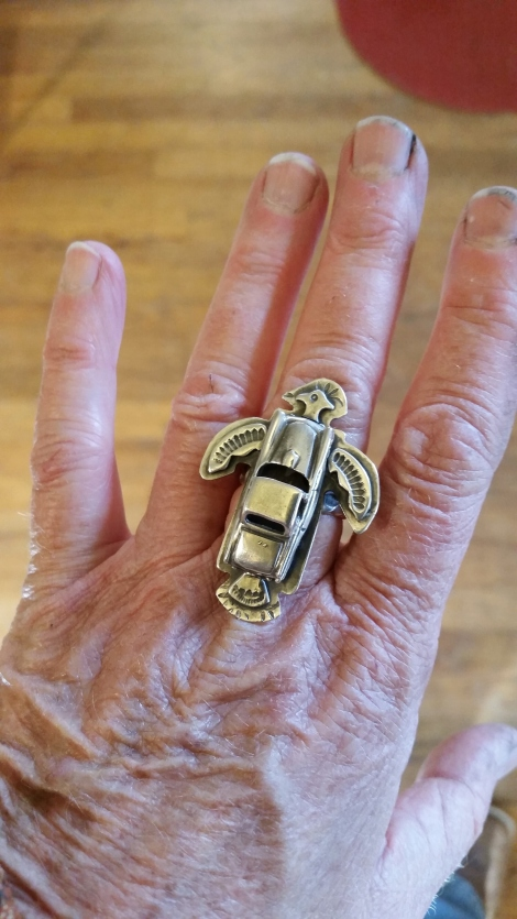 NOT Just Another Thunderbird Ring top-view